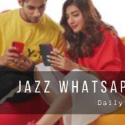 Jazz WhatsApp Plans for Prepaid Users